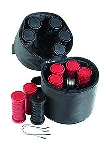 Nicky Clarke NHS005 - Set de rulos, color negro y rojo
