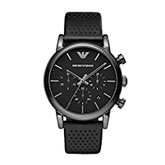 Movement chronograph Durable mineral crystal helps protect watch from scratches Analog-quartz Movement Case Diameter: 41mm Water Resistant To 165 Feet