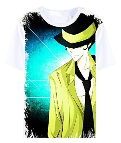 Cosstars Anime Hitman Reborn T-Shirt Cosplay Kostüm Sommer Kurzarm Tee Top Shirts Weiß 18 S