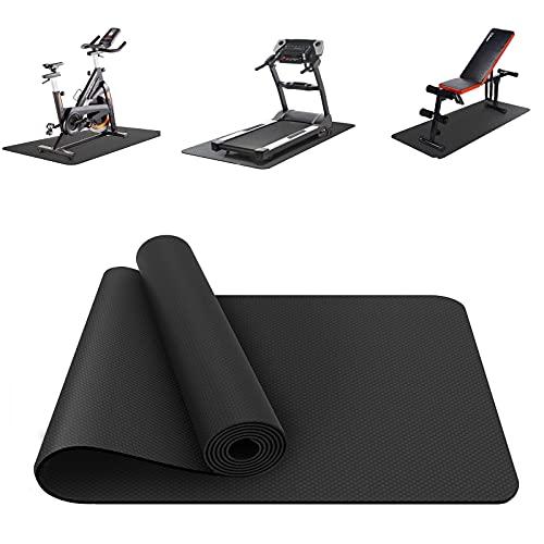 Bodenschutzmatte für Fitnessgeräte Heimtrainer --Sport Multifunktionsmatte,extra wiederstandsfähige Laufband Matte,Bodenschutzmatte rutschfeste,Fitnessmatte Turnmatte,Sportgeräte-Matten(120x60x0.4cm)