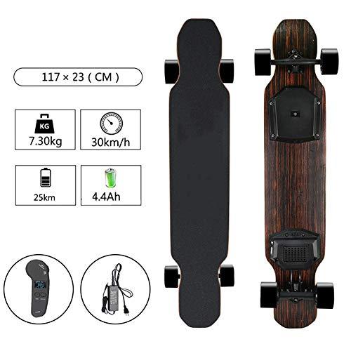 Qinmo Standard Skateboards, Elektro-Kreuzer Skateboard, Elektro Ahorn Skateboard mit Fernbedienung, 30 km/h...