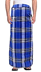 TRADITIONS Mens 100% Cotton Lungi Assorted Color and Checks Pack of 2