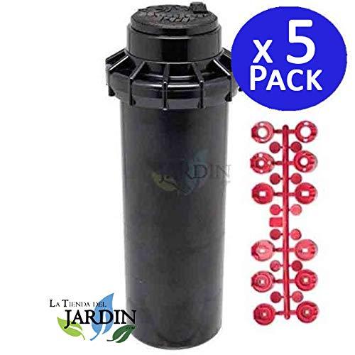 "Suinga - Pack 5 x Aspersor Hunter PGP ADJ. Alcance 6,4 a 15,8 mts. Rosca 3/4"" hembra (Pack de 5 aspersores)"