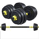 Binn Pesas Mancuernas Peso encapsulado con el Medio Ambiente Pesa de Gimnasia de la Aptitud Masculina Mancuernas 20/30 kg casa aparatos de Ejercicios Entrenamiento Muscular (Color : 20kg)