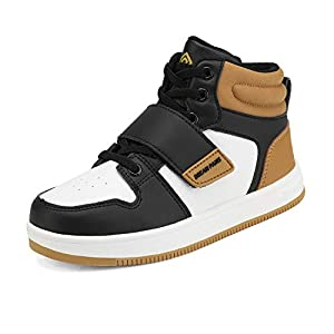 DREAM PAIRS Boys Basketball Shoes High Top Athletic Sneakers Yellow White Black Size 13 Little Kid Freestyle-K