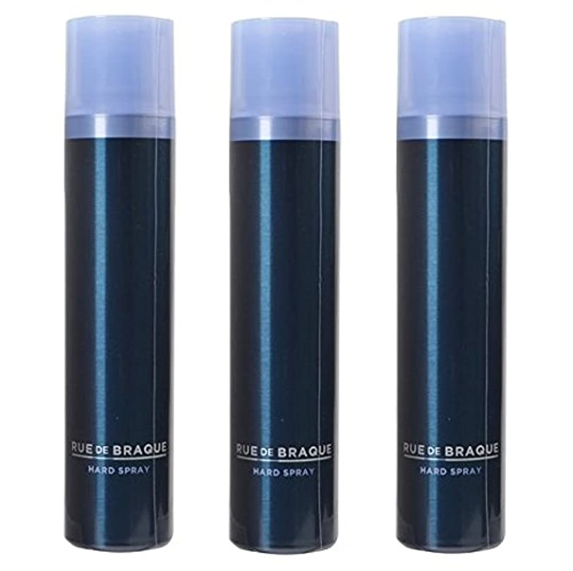 過敏な気楽な偶然タマリス ルードブラック ハードスプレー 180g ×3個セット TAMARIS RUE DE BRAQUE 男性用ヘアケア メンズヘアケア メンズケア