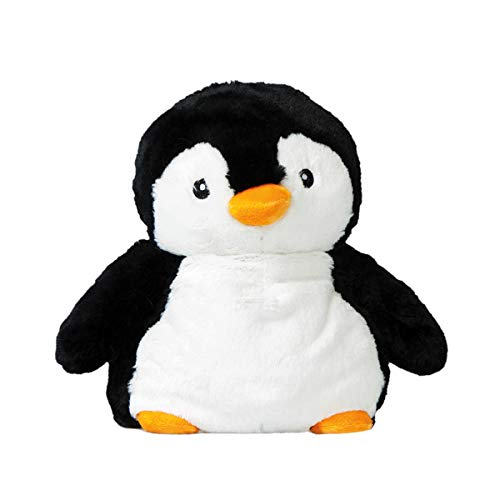 PELUCHO Peluche bouillotte Pingouin - Noir (blanc)