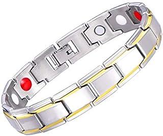 Silver Color Health Care Bio MagneticBracelets for men Women Healthy Jewelry