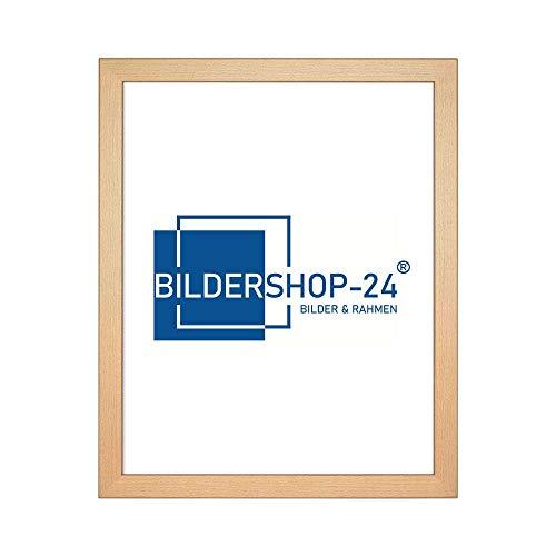 Bilderrahmen London in Holzoptik Buche Dekor mit Acrylglas ANTIREFLEX/ENTSPIEGELT 18 X 24 cm