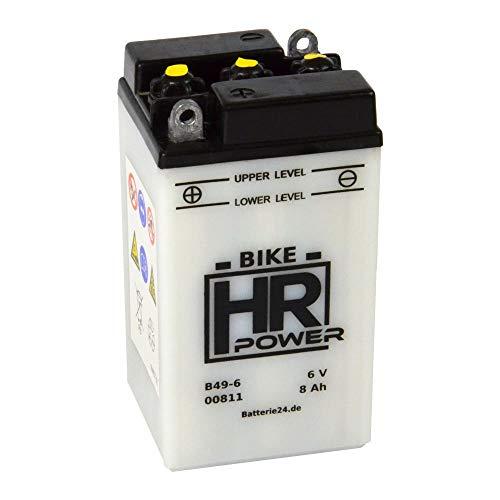Motorrad Batterie Starterbatterie 6V 8Ah B49-6 00811