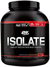 Optimum Nutrition Whey Protein Isolate, Chocolate Shake Flavor, 5.02 Pound