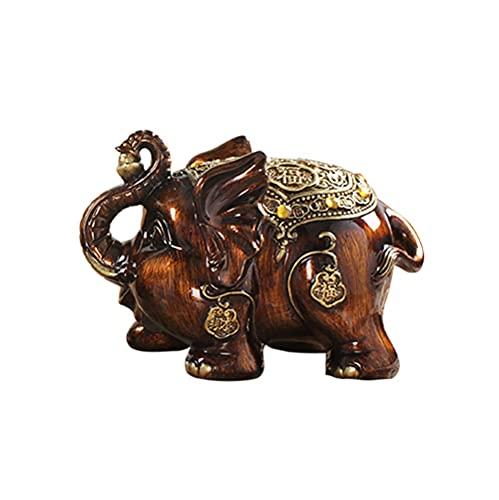 ZAKRLYB Piggy Bank Resin Elephant Change Moneda Billete de Banco Almacenamiento Cepillado Textura Hermosa y práctica Niños Adulto Almacenamiento Interior Interés Interés Desk Desk Cabinete Decoración