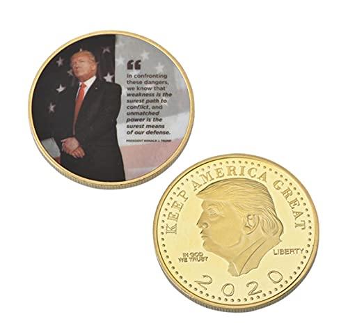 ZKPNV Monedas Conmemorativas Donald Trump Monedas Conmemorativas Chapadas En Oro Coleccionables Presidente De EE. UU. Juego De Monedas Originales Regalos para Hombre