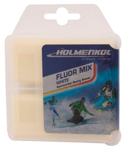 Holmenkol Unisex– Erwachsene Fluormix White Skiwachs, weiß, 2X 35 Gramm