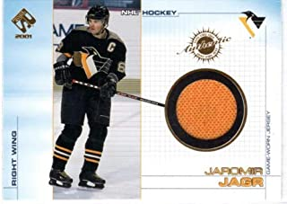 2000-01 Private Stock Game Gear #89 Jaromir Jagr Game-Worn Jersey Card - Pittsburgh Penguins