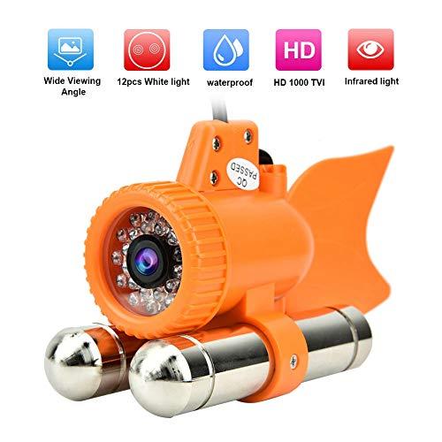 Cámara Subacuática,12 LED 1000 TVL HD Cámara Subacuática Video en Color Visión Nocturna Buscador de Peces Dc12v(50m)