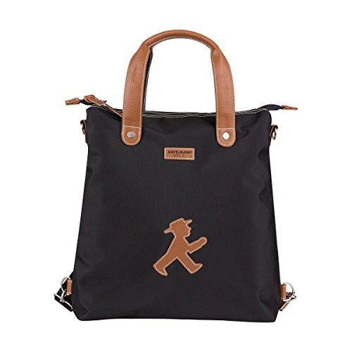 AMPELMANN Handtasche 3 in 1 Shoppinghelfer mit Lederapplikation Geher