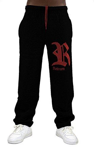 REDRUM heren joggingbroek trainingsbroek jogger broek sweatpants fitnessbroek vrije tijd katoen sport modieus Napoli