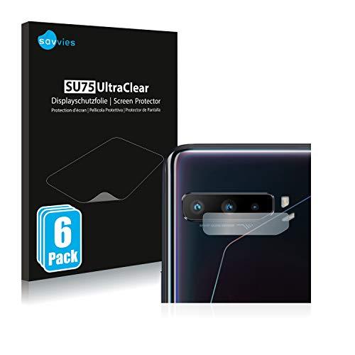 Savvies 6X Schutzfolie kompatibel mit Asus ROG Phone 3 Strix (NUR Kamera) Bildschirmschutz-Folie Ultra-transparent