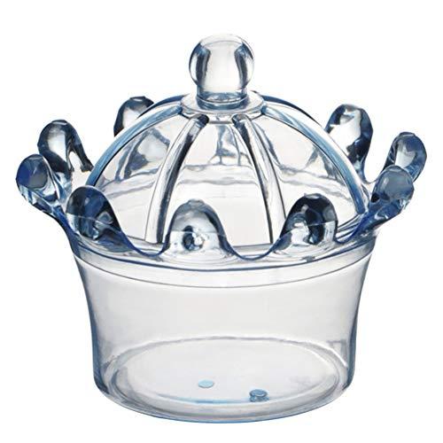 12PCS snoepdozen, kroonvorm snoepdozen bedankje partij plastic snoep geschenkdoos 2,76 x 1,97 inch (blauw)