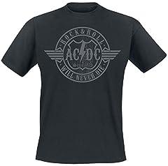 AC/DC Rock & Roll - Will Never Die Camiseta Negro