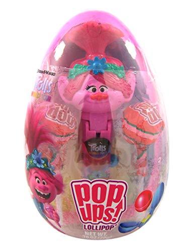 Dreamworks Trolls World Tour Poppy Pop Ups Lollipops Holder in Easter Egg, 0.70 Ounce