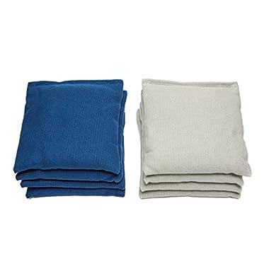 Weather Resistant Cornhole Bags (Set of 8) by SC Cornhole (Royal Blue/Grey)