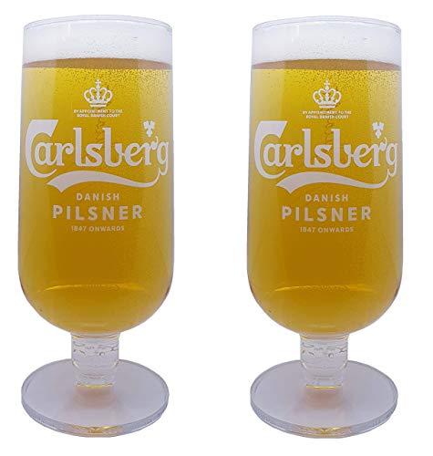 Carlsberg Pilsner Biergläser, 568 ml, 2 Stück