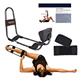 IdealStretch-Original- Hamstring Stretching Device with Instruction Card - Ideal Leg Stretcher, No Need for A Stretching Partner, Maintains Proper Hip Orientation- Patented Leg Stretching (With Wedge)