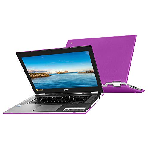 mCover Hard Shell Case for 15.6' Acer Chromebook Spin 15 CP315 Series (NOT Compatible with Older C910 / CB5-571 / CB3-531 / CB515 Series) Convertible Laptop (Purple)