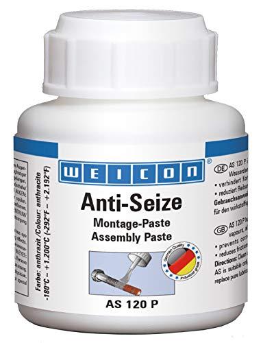 Weicon 26000012 Anti-Seize Montagepaste 120g hitzebeständiger Schutz gegen Korrosion, Pinseldose
