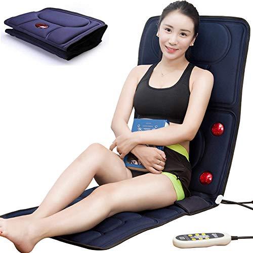 Materassino massaggiante vibro Materasso riscaldato,Terapia Magnetica Home Il Massaggio del Letto allevia Dolore Tappetino per Massaggio Elettrico Pieghevole