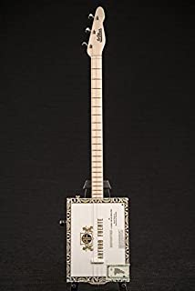 St. Blues Made In USA 3 String Professional Arturo Fuente Cigar Box Guitar & Bag