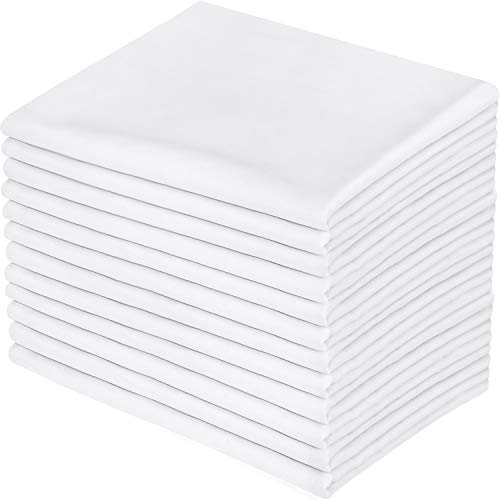 Utopia Bedding Cotton Stitched Pillowcases Pack of 12 - Hotel Quality Pillow Covers (Queen, White)