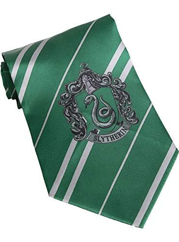 Funidelia | Harry Potter Slytherin Krawatte OFFIZIELLE für Herren und Damen ▶ Hogwarts, Zauberer, Film und Serien, Zubehör für Kostüm