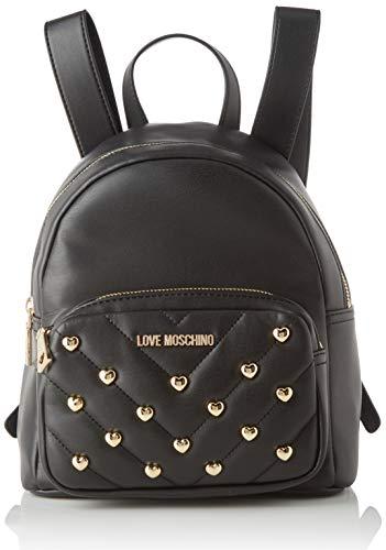 Love Moschino Damen Jc4235pp0a Rucksack, Schwarz (Black), 12x26x22 Centimeters