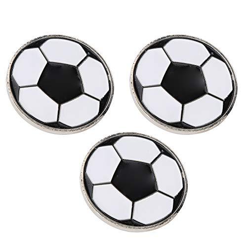 Alomejor Fußball Flip Coin 3PCS Tragbare Fußballwurfmünze Fußball Pick Side Toss Münze Fußballtraining Match Schiedsrichter Flip Coin