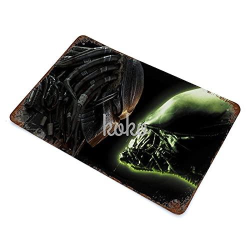 XREE Alien-vs-Depredator Art - Cartel de lata vintage para el hogar, accesorios de displate de estaño, placas de metal, pintura de hierro, 30 x 40 cm