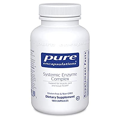 Pure Encapsulations - Systemic Enzyme Complex - Synergistic Formula to Support Muscle, Joint and Tissue Health - 180 Capsules