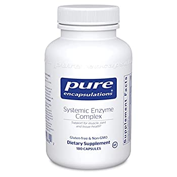 Pure Encapsulations Systemic Enzyme Complex   Supplement to Support Muscle Joint Cartilage and Connective Tissue Health*   180 Capsules