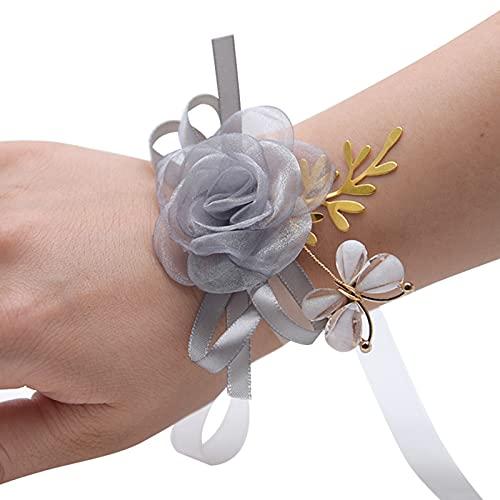 laoonl - Pulsera para mujer, accesorios de boda, dama de honor, hermanas, grupo de simulación de boda, flor y mariposa, decoración regalo