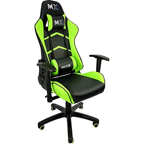 Cadeira Gamer MX5 Giratoria Preto e Verde, Mymax, 25.009176, Preto e Verde