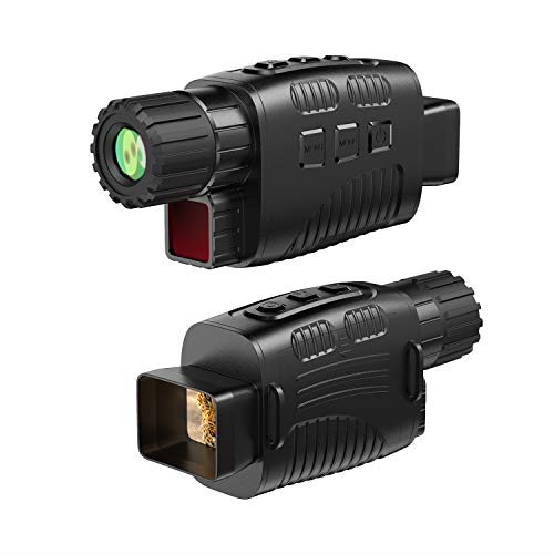 """Night Vision Monocular Infrared Night Vision HD Digital Night Vision Scope with 1.5"""" TFT LCD Take 1M Photos and 960P Video Playback Function from 984ft Distance for Night Hunting(32G TF Card Included)"""