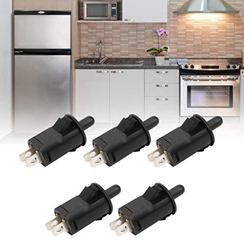 Negro PBS-29B Botón de presión del gabinete del interruptor del refrigerador Interruptor de la luz del refrigerador Interruptor de CA para la puerta del gabinete del refrigerador