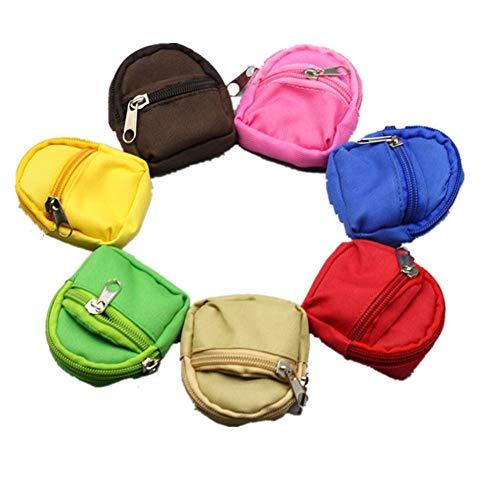 Fully 2stk. Mini Rucksack Schultasche Doppelgurte Taschen Kostüm für Puppen