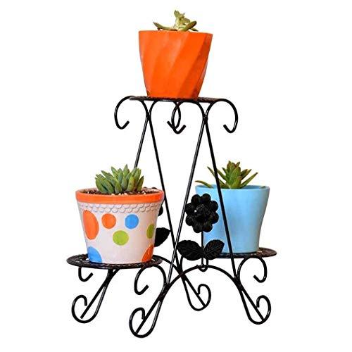 Pyrojewel moderna simplicidad Hogar moderno de 3 niveles de escritorio Planta pequeño puesto Tiesto de estantes metálicos suculentas hierba Bonsai estante interior Suelo soporte de la ayuda del planta