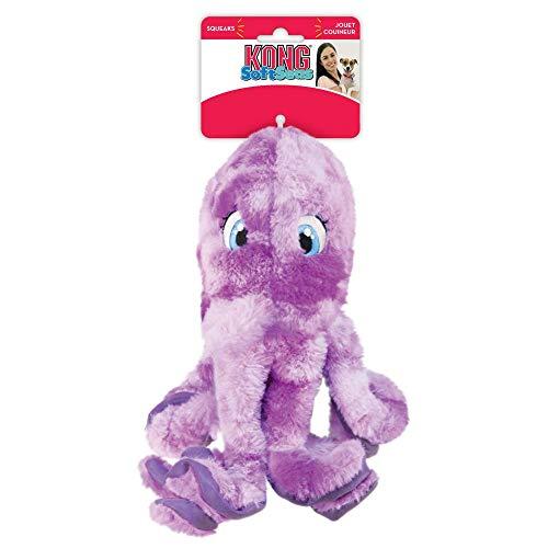 KONG SoftSeas Oktopus Hundespielzeug, dick, Plüsch, groß