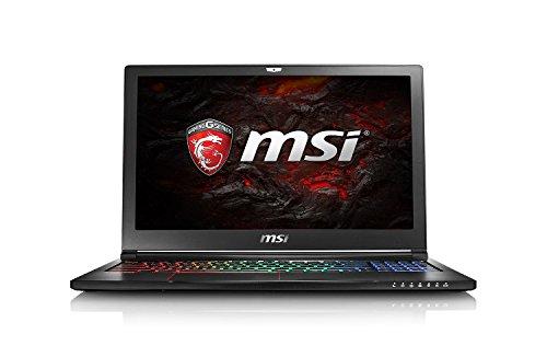 MSI GS63VR-6RFAC16H22 Laptop (Intel Core i7-6700HQ, 16 GB RAM, NVIDIA GeForce GTX1060, 256GB SSD + 2TB HDD, Windows 10 Home) schwarz GS63