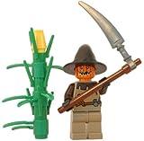 LEGO Halloween Minifigure - Scarecrow with Scythe and Cornstalk - Pumpkin King