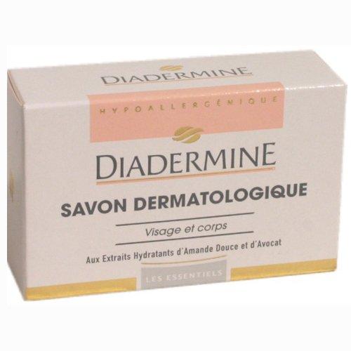 Diadermine Savon Dermatologique Visage et Corps Amande Douce et Avocat, 100g